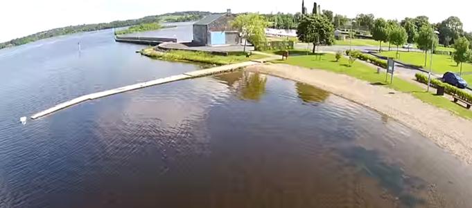 Swimming at Dromineer shore, Nenagh, Co. Tipperary, Ireland